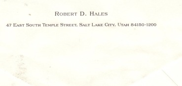 Caleb Letter from Elder Hales 2